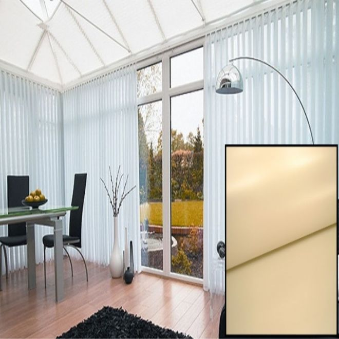 Beige PVC BLACKOUT Replacement Slats with HEAT REFLECTIVE COATING - Just Blinds